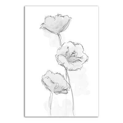 'Watercolor Flower Sketch' Drawing Print on Wrapped Canvas - Wayfair