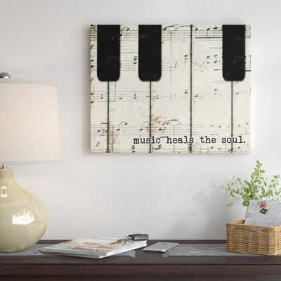 'Piano Keys and Music' Graphic Art Print on Canvas - Wayfair