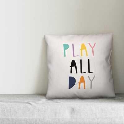Stacie Play All Day Throw Pillow - Wayfair