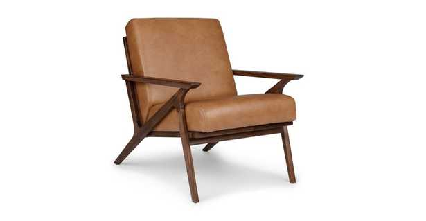 Otio Toscana Tan Walnut Lounge Chair - Article