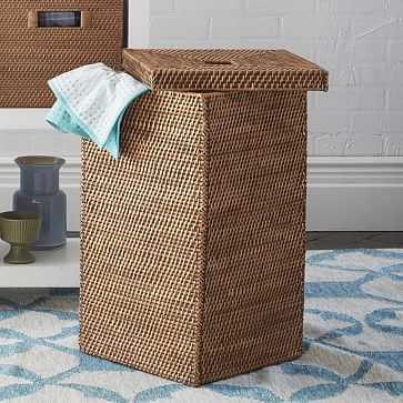 Modern Weave Tall Basket, Natural - West Elm
