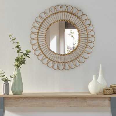 Strom Woven Rattan Sunburst Accent Wall Mirror - Wayfair