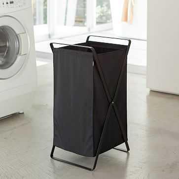 Tower Laundry Hamper, Black - West Elm