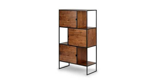 """Rictu Walnut 48"""" Bookcase - Article"""