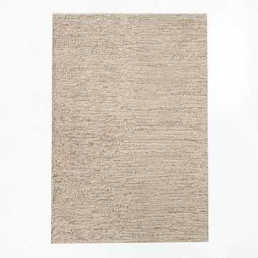 Mini Pebble Jute Wool Rug, 5'x8', Natural/Ivory - West Elm