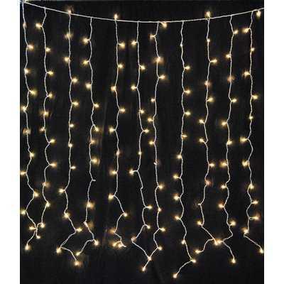 Hillis 7 ft. 150-Light Curtain String Light - AllModern