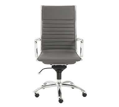 Fowler High Back Desk Chair, Gray - Pottery Barn