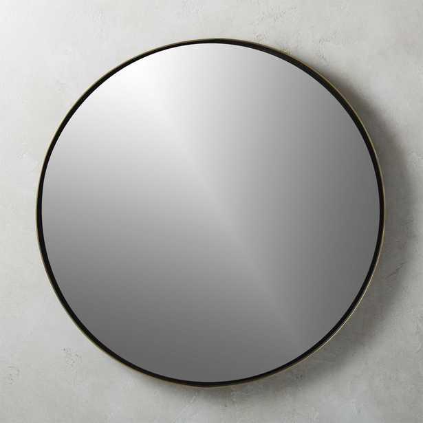 """Shadow Circle Wall Mirror 32.5"""" - CB2"""