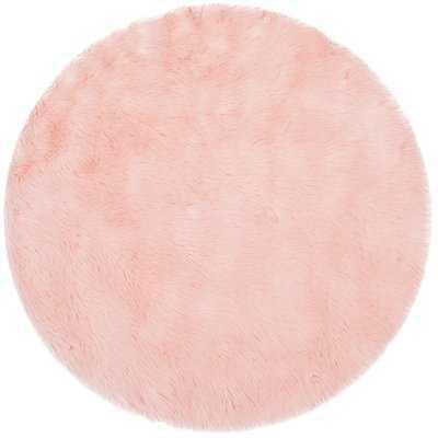 Anthony  Fur Pink Area Rug - Wayfair