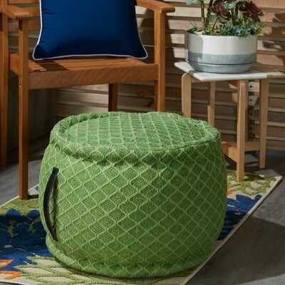 Nashwauk Geometric Indoor/Outdoor Pouf - Wayfair