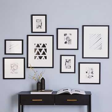 Gallery Frames, Black, Set of 8 - West Elm