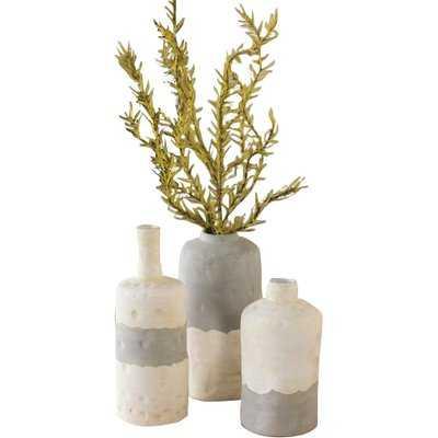 Ceramic Bottle 3 Piece Table Vase Set - Wayfair