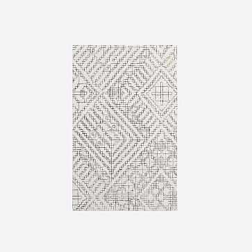 Stone Tile Rug, Slate, 5'x8' - West Elm