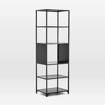 3 Drawer Black Iron Bookshelf - West Elm