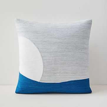 "Crewel Peekaboo Pillow Cover, 18""x18"", Stone Gray - West Elm"
