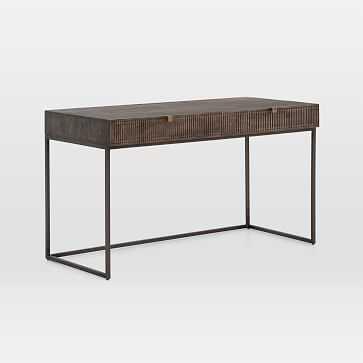 Mango Wood + Iron Writing Desk - West Elm