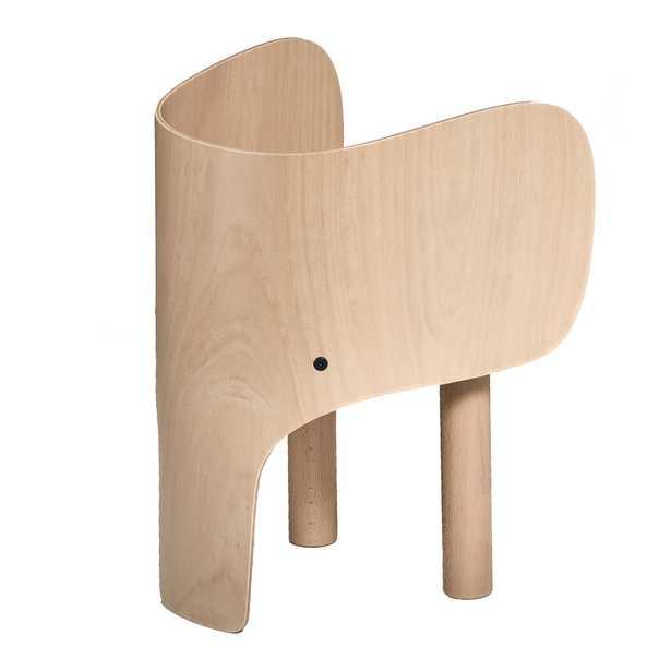 EO Modern Beech Elephant Chair - Kathy Kuo Home