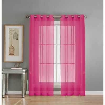 Agata Solid Sheer Grommet Single Curtain Panel - AllModern