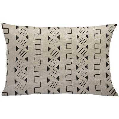 Haneul Mud Cloth Linen Lumbar Pillow - Wayfair