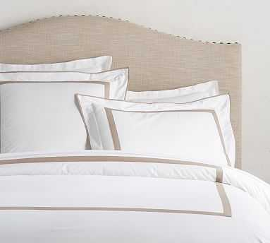 Morgan Organic Duvet Cover, Full/Queen, Simply Taupe - Pottery Barn