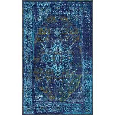 Brennen Blue Area Rug - Wayfair