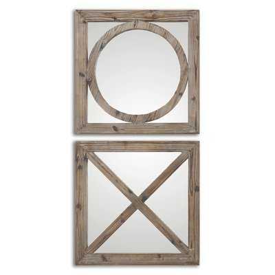 2 Piece Faustina Mirror Set - Birch Lane