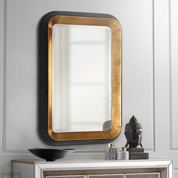 """Niva Antiqued Gold Leaf 28"""" x 42 1/4"""" Wall Mirror - Style # 35K48 - Lamps Plus"""