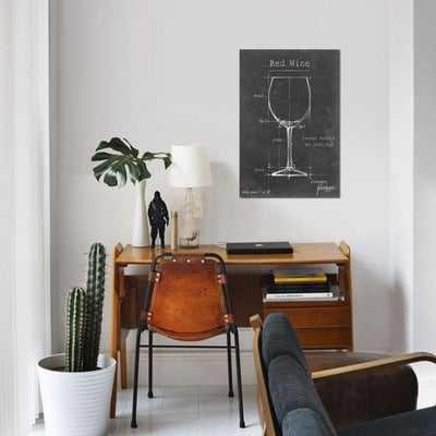 'Barware Blueprint III' Graphic Art Print on Canvas - Wayfair