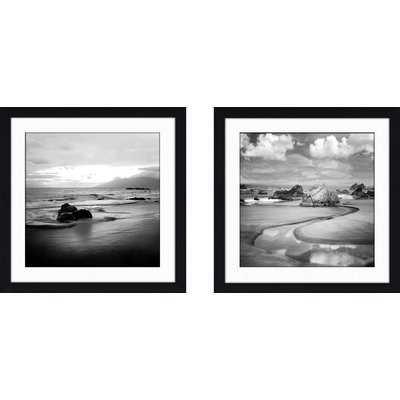 'Coastal Rocks Hawaii' 2 Piece Framed Photographic Print Set - Wayfair