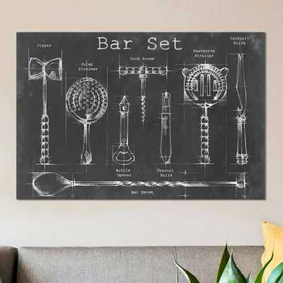 'Bar Set' Graphic Art Print on Canvas - Wayfair