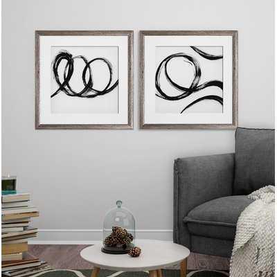 'Gestural Marks III' 2 Piece Framed Print Set - Wayfair