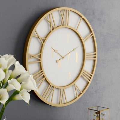 "Oversized Millbury Cottage Round Framed 36"" Wall Clock - Wayfair"