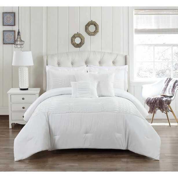 Geonna 6-Piece White Full/Queen Comforter Set - Home Depot