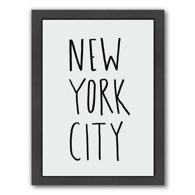 'Nyc' Textual Art Print - Wayfair