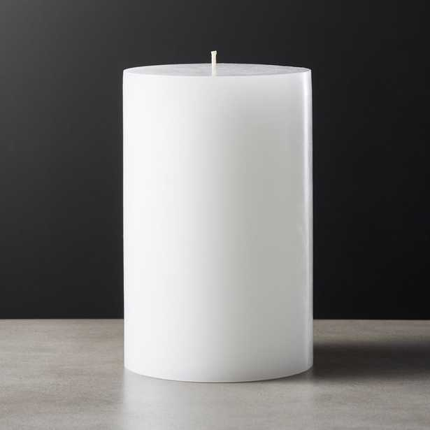 White Pillar Candle 4x6 - CB2