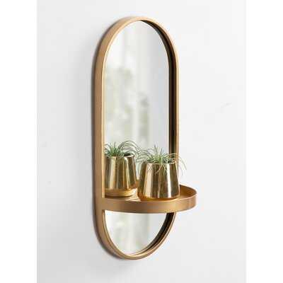Ryland Accent Mirror with Shelf - AllModern