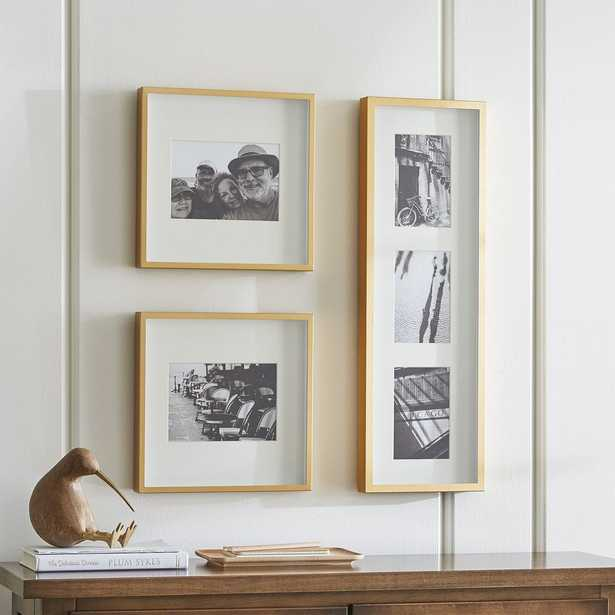 Brushed Brass Picture Frame Gallery, Set of 3 - Crate and Barrel