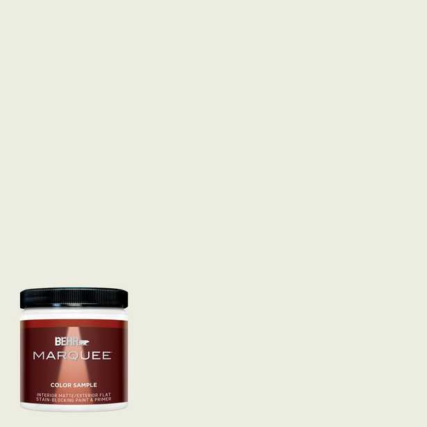BEHR MARQUEE 8 oz. #GR-W09 Snowfall White Matte Interior/Exterior Paint and Primer in One Sample - Home Depot