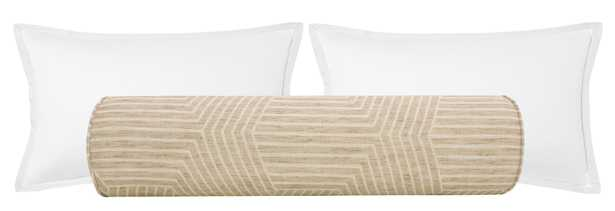 """The Bolster :: Labyrinth Linen // Natural - KING // 9"""" X 48"""" - Little Design Company"""
