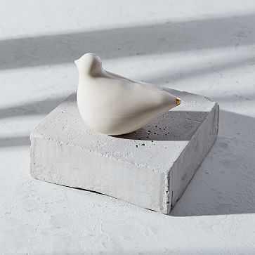 Honeycomb Studio Porcelain Turtle Dove, White - West Elm