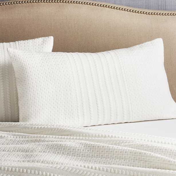 Doret White King Pillow Sham - Crate and Barrel