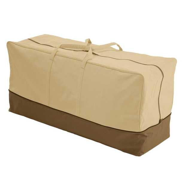 Classic Accessories Veranda X-Large Patio Cushion Storage Bag, Pebble/Brown/Earth - Home Depot