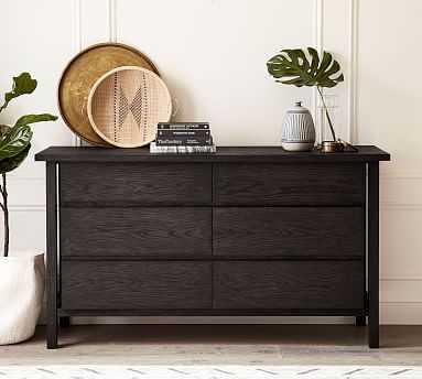 Eva Extra Wide Wood Dresser, Corsica Black - Pottery Barn