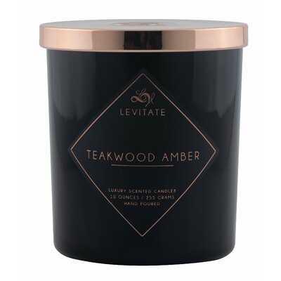 Levitate Candles Teakwood Amber 10oz. Glass Scented Jar Candle - Wayfair