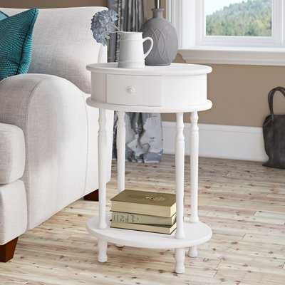 Mikel End Table with Storage - Wayfair