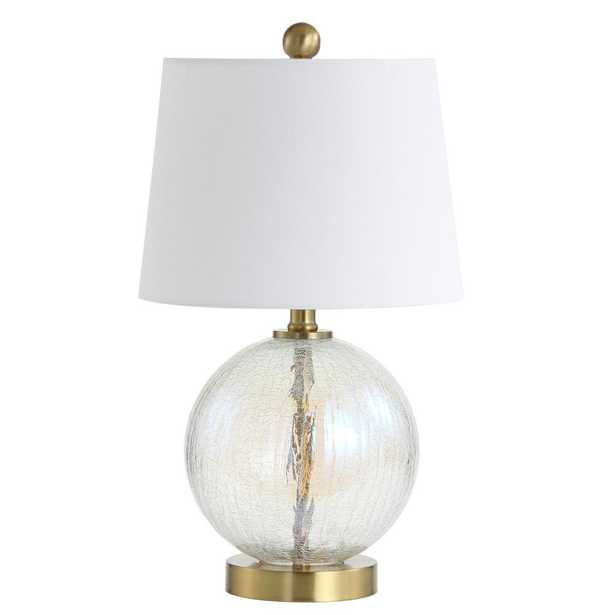 Safavieh Riglan 20 in. Clear/Gold Table Lamp - Home Depot