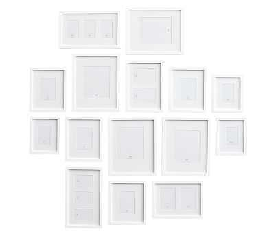 Gallery in a Box, Modern White Frames, Set of 15 - Pottery Barn