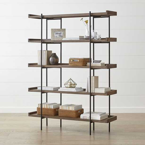 Beckett Grey Wash 5-High Shelf - Crate and Barrel