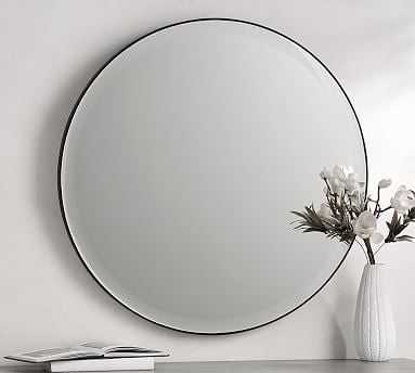 Madalyn Beveled Round Mirror, Large - Pottery Barn