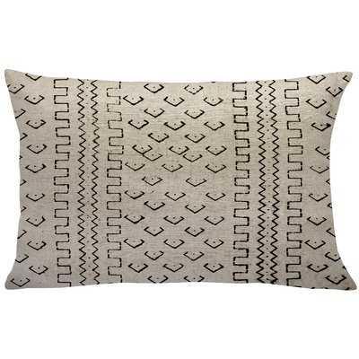 Waho Mud Cloth Linen Lumbar Pillow - Wayfair